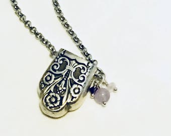 Aromatherapy Diffuser Necklace - Vintage - Essential Oil Necklace - Wedding