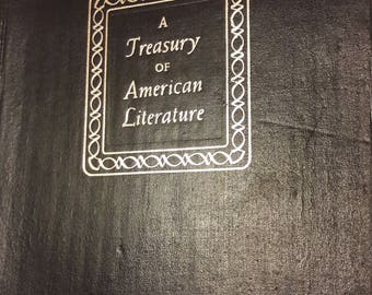 A Treasury of American Literature - Vintage Antique Books - Literature - 1960s