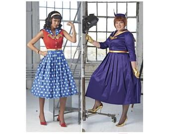 8481, Simplicity, 1950's Dress, Rockabilly, Wonder woman, Bat Woman,  50's Cocktail Dress, Summer Dress, Retro 50's, 1950's fashion,