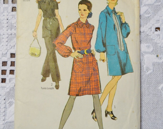 Simplicity 9027 Sewing Pattern Misses Dress Tunic Pants  Size 14 DIY Vintage Clothing Fashion Sewing Crafts PanchosPorch