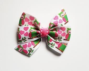 Owl Hair Bow/Hearts/Hair Clip/Girl's Hair Clip/Baby Girl/hair bow/Party Favor/Valentine Hair Bow/Girl's hair bow/Cute Owls