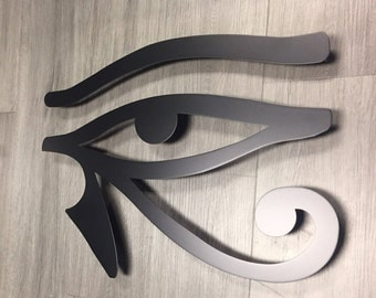 Egyptian Eye Metal Wall Art Set  - Metal Art - Wall Art - Metal Wall Decor - Eye of Horus - Eye of Ra - Egyptian Art - Modern - Black Art