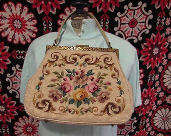 Needle Point Handbag