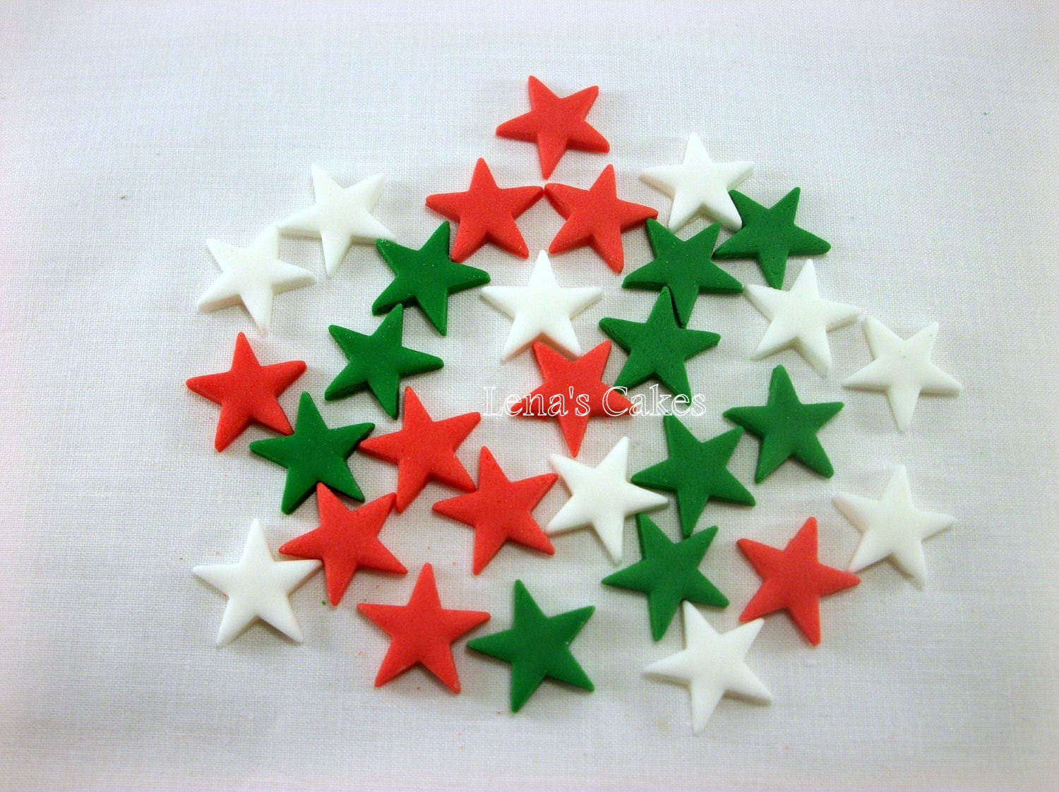 Christmas Cake Decoration With Stars : 96 pcs Christmas Fondant Stars Christmas Cake Cupcake Fondant