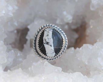 White Buffalo Ring, size 7, White Buffalo Jewelry