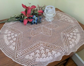 """Large Star and Flower Doily 26"""""""
