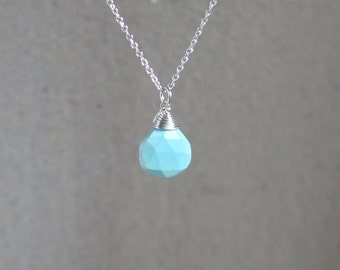 Turquoise Necklace | Sleeping Beauty | Minimal | Sterling Silver or Gold Filled | December Birthstone