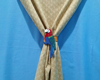 Parrot Curtain Tie-Back