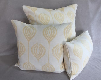 "Allegra Hicks pillows ""Tulip"" in yellow"