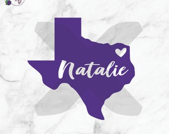 SALE Texas Decal, Texas Monogram, Yeti Decal, Vinyl Decal, Name Decal, Personalized Decal, Laptop Decal, Tumbler Decal, All States Available