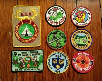 27 vintage scouting patches