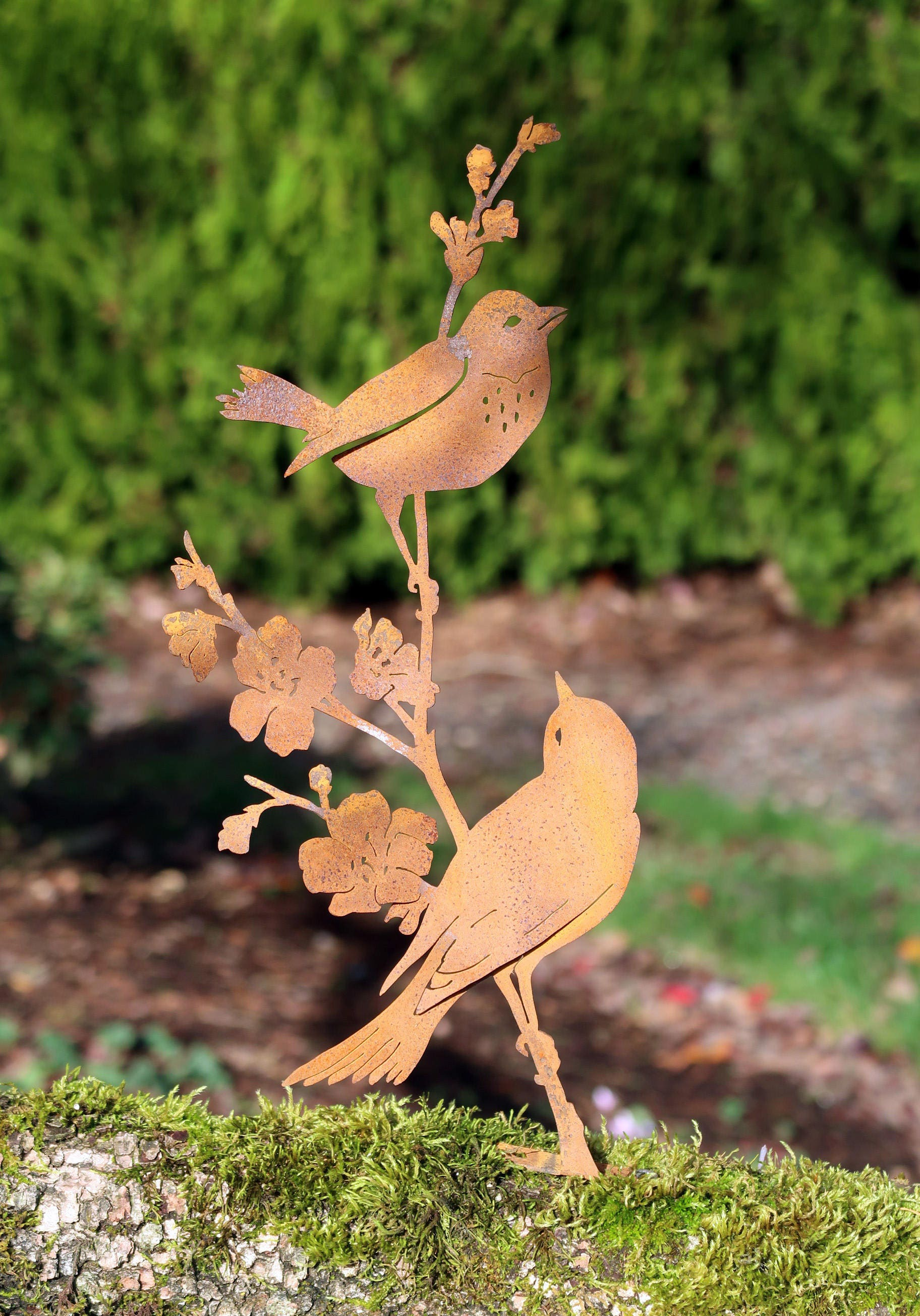 Metal Birds on Branch | Metal Bird Art | Bird Gifts Women | Bird ...