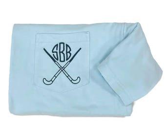 Field Hockey Shirts, Monogram Shirt, Field Hockey Gift, Field Hockey Team, Team Gift, Field Hockey Player, Personalized, Comfort Colors