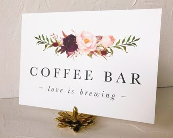 Love is Brewing Coffee Bar Sign | Wedding Signs | Printable