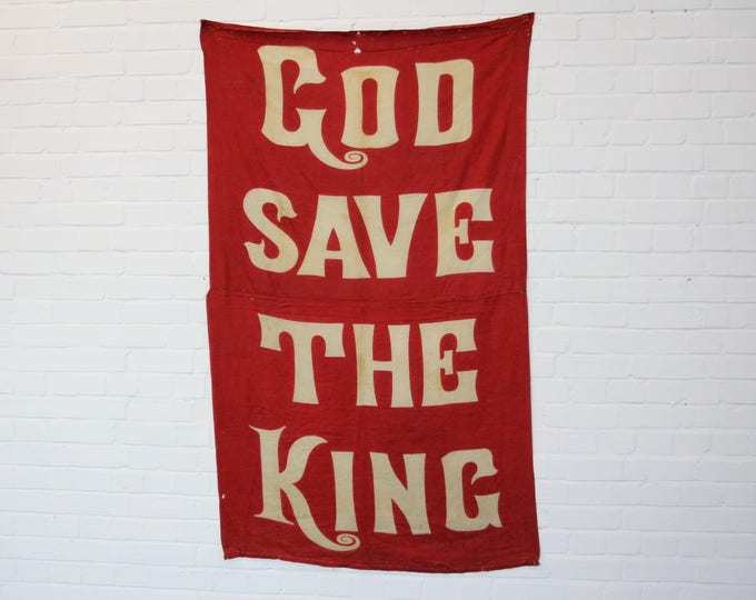 Large Linen God Save The King Coronation Banner