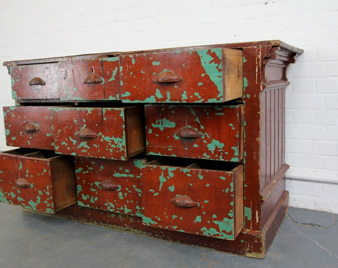 Late 19th Century Industrial Painted Factory Drawers
