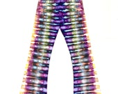 Medium Tie Dye Stripes Yoga Pants