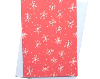 Ditsy Pink Floral Greeting Card