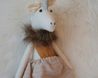 Delicate handmade unicorn