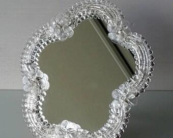 Murano Glass mirror Venetian Italy.