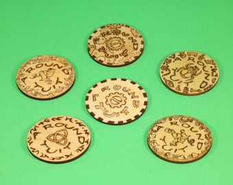 Round Tuit fridge magnet in choice of designs - celtic, steampunk, vines or hieroglyphs - funny gift, party favour