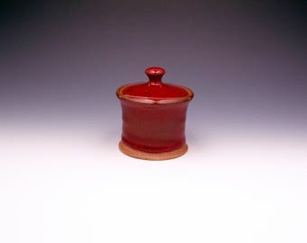 Little Red Ceramic Jar