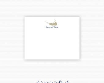 Nantucket Thank You Note Cards, Personalized Note Cards, Stationery - Set of 25 Cards