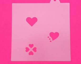 Heart Cookie Stencil, Heart Oreo Stencils, Heart Macaron Stencils, Heart Cupcake Stencils, Heart Fondant Stencils, Small Heart Stencil