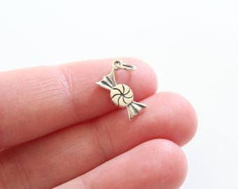 Sterling Silver Candy Charm, Wrapped Candy Charm, Little Candy Charm, I Love Candy Charm, I Want Candy Charm, Sweet Charm, Sweet Tooth Charm