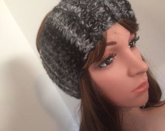 Knit headband - knit ear warmer - knitted head wrap  - Turband - grey  - keep the wind out of your ears when walking without over heating