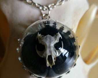 Real vole skull necklace origin assured ethical