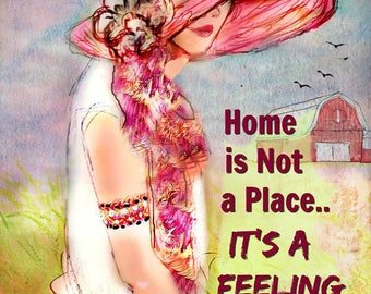 HOME  by Anita of Zen to Zany  Prints and Cards Available....No zen to zany watermark on Prints