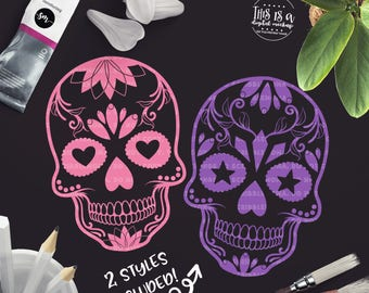 Sugar Skull svg, Halloween Skull svg, Skull svg, Halloween Cut File, Day of the Dead svg, Cut Files for Silhouette for Cricut