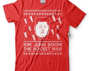 Ugly Christmas Sweater T-Shirt Funny Christmas Party North Korea Leader Tee Shirt