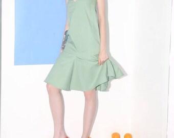 Classic 60s Collection bright orange/mint green mermaid dress