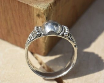 Art Deco Sterling Silver Ring Stamp 925