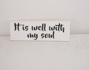 It is well with my soul - hymn lyrics - it is well - faith quote - music lyrics - christian sign - hymn sign - canvas wall art - home decor