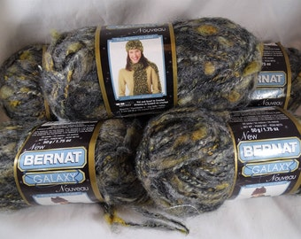 Lot 5 Skeins Bernat Galaxy Yarn Mercury Mohair Alapaca FREE Shipping USA