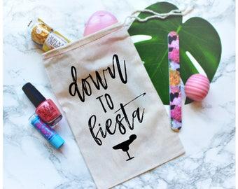 Down to fiesta Party Favor Bag, Bachelorette Party Favor, Bachelorette gift, Bachelorette Party Gift, Gift Bag, Bachelorette Favor
