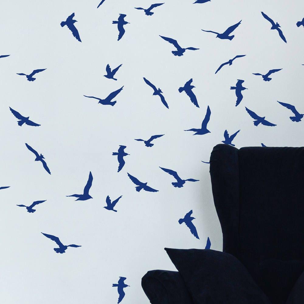 Storm birds stencil scandinavian wall stencil bird stencil zoom amipublicfo Gallery