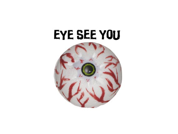 EYE SEE YOU Bath Bomb - Bloody Good Bath Fun w/ Organic Coconut Oil & Rice Bran Oil / Vegan / Kids / Bathtime Fun / Bath Fizzer / Halloween