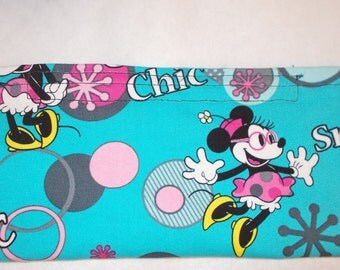 Mouse  Print Fabric Pencil Pouch
