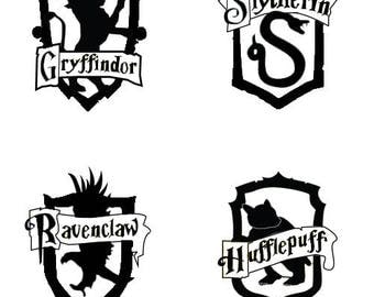 Harry Potter Hogwarts House Decal | Gryffindor Slytherin Ravenclaw Hufflepuff