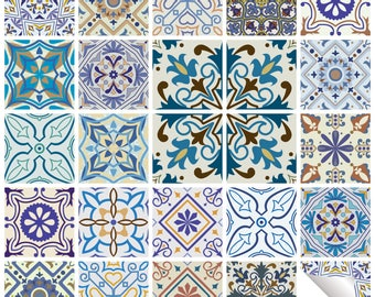 Traditional Tile Stickers Vintage Transfer Decal For Kitchen Bathroom DIY    T15   STYLE 2