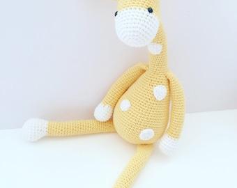 READY TO SHIP George the Giraffe (Yellow)