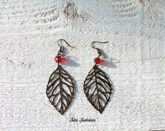 "Earrings ""autumn leaves"" - Bronze"