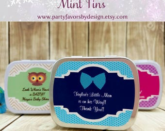 Custom Baby Shower Gifts for Guests | Baby Shower Thank You Gifts | Baby Shower Souvenirs | 10 Mint Tins