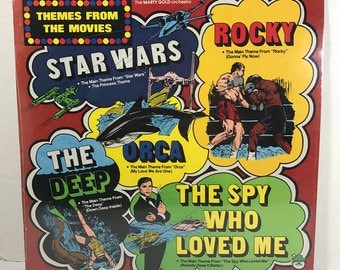 SEALED Themes From The Movies Star Wars vinyl record Peter Pan Records Star Wars Rocky Orca The Deep