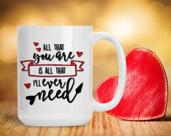 Romantic Gift for Wife Husband Spouse Fiance, Unique Present for Honey, Funny and Humorous Mug, Coffee Tea Lover Gift Idea, Coffee Fan