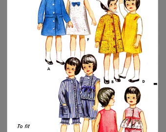 Vintage Butterick Pepper Skipper Doll Clothes Fabric material Sew Pattern # 3350 Copy